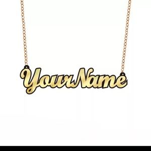 Jewelry - Custom made nameplate necklace and earrings